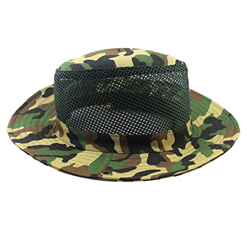WensLTD Hotsale Summer Vented Camouflage Breezer Hat with CoolMax Band (A)