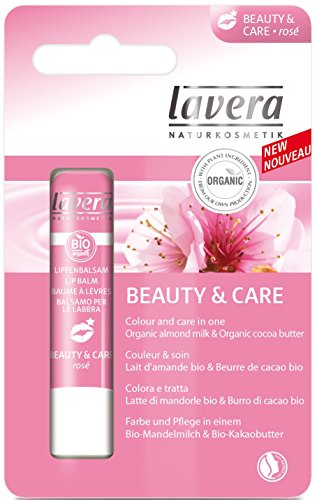 Lavera Lip Balm, Beauty and Care Rose, 0.15 Ounce