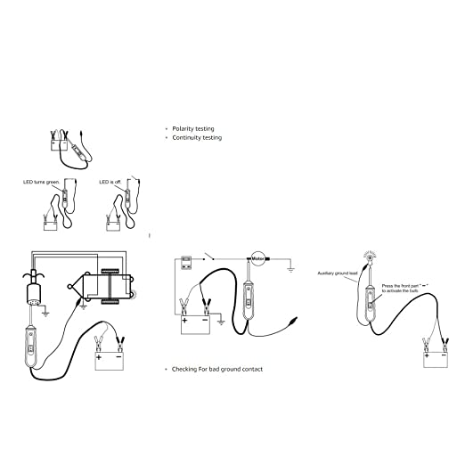 VXSCAN em285 Automotive eléctrico comprobador de circuito coche eléctrico sistema probador 6 - 24 V DC: Amazon.es: Coche y moto