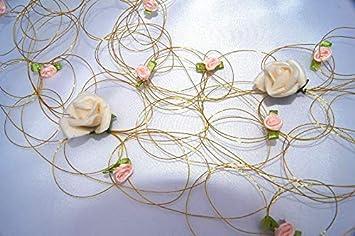 Tatjana Land Deko 1 30 Cm Rosengirlande Goldene Hochzeit Gold Rosen