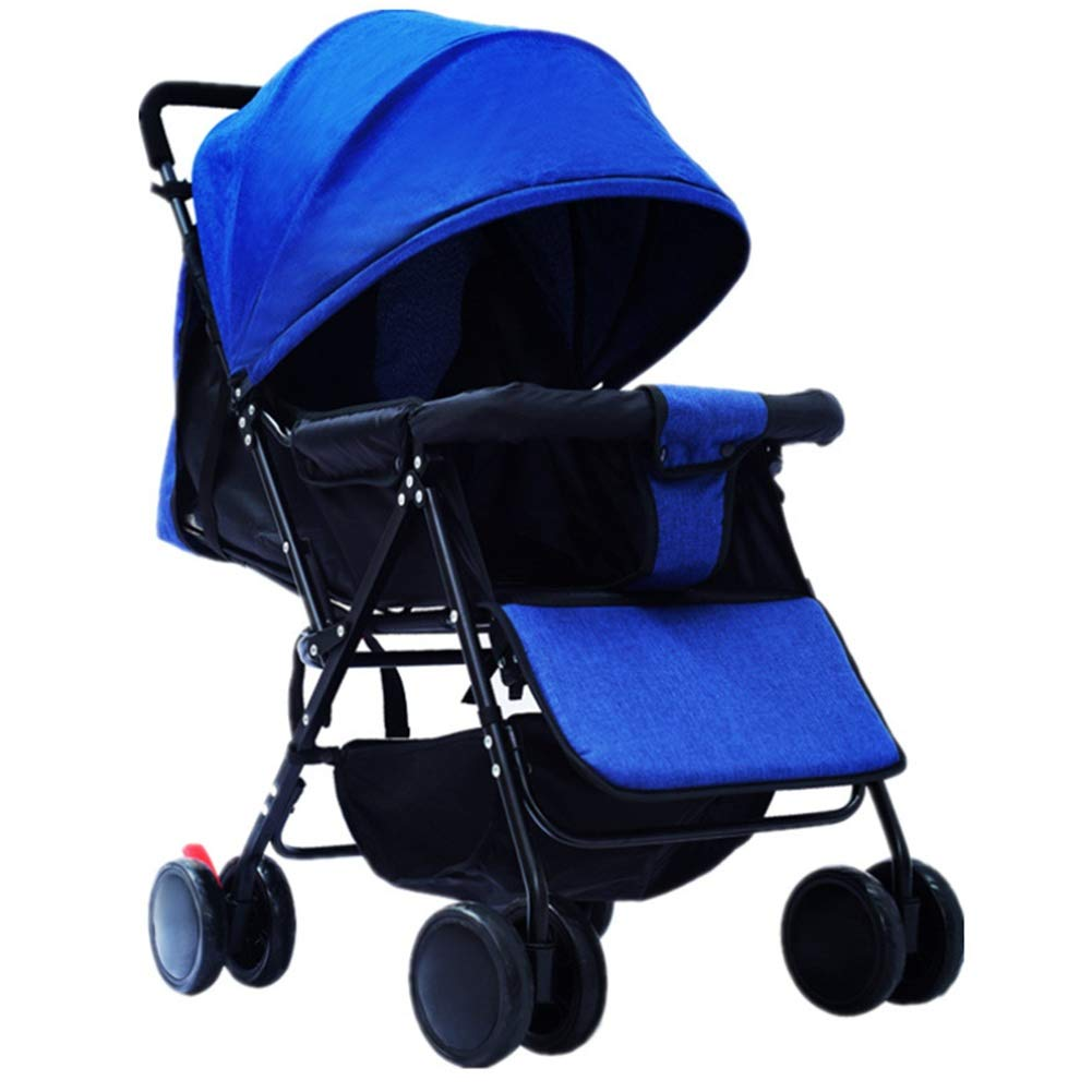 Baby Stroller Two in one High Landscape Baby Stroller 1-3 Years Old Foldable Portable Baby Carriage Pet Toy Car wexe.com
