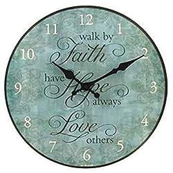 12 Faith, Hope, Love Round Wall Clock