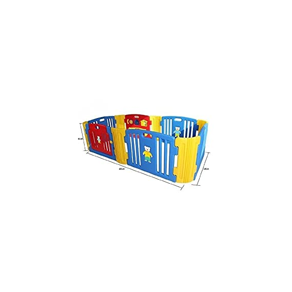 Babycenterindia Baby Room Standard with 2 Extension Kit (Red, Blue and Yellow)