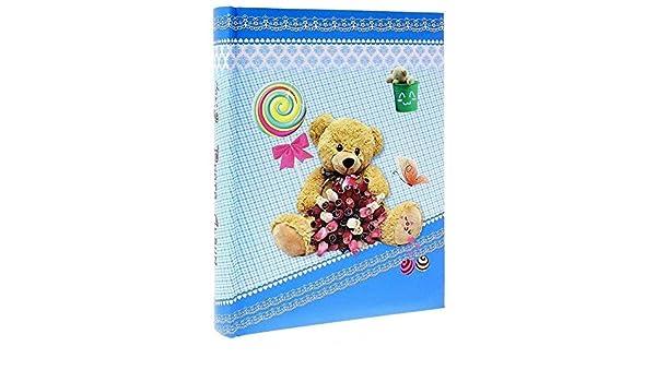 nacimiento Bear azul para 200/fotos 10/x 15/cm /Álbum de fotos con fundas
