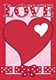 Polka Dot Love Heart Valentine House Flag 28 x 40 Review