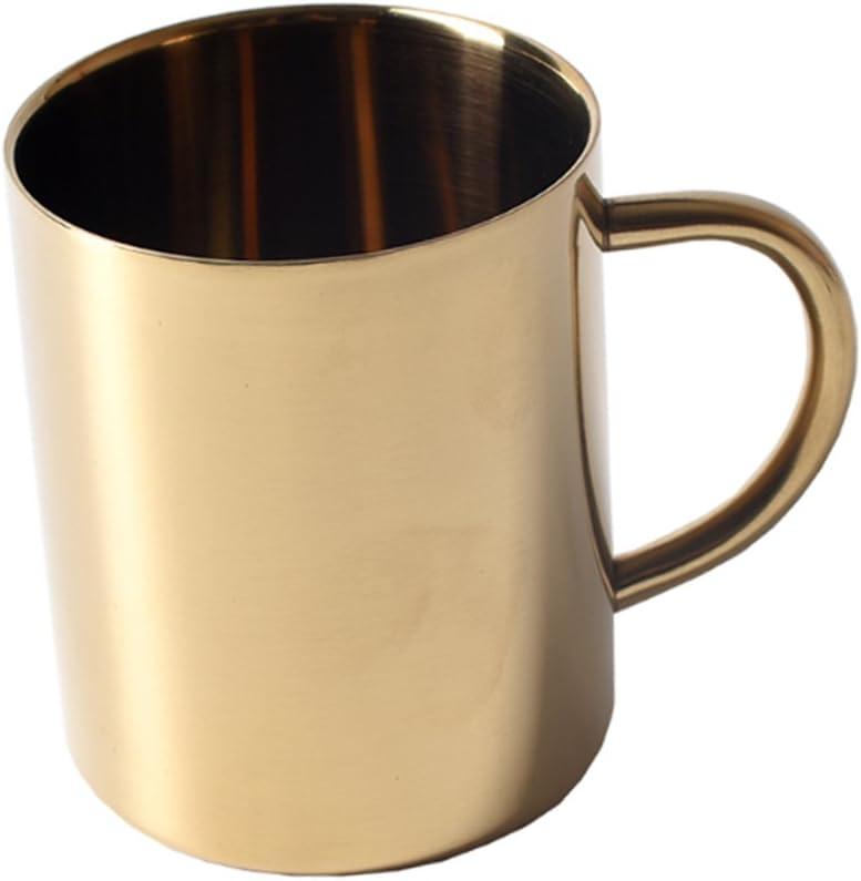 MagiDeal 2 pcs Bierkrug, Edelstahl Kaffeetasse, TeeBier