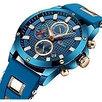 [Patrocinado] Biden - Reloj de pulsera para hombre y mujer, de lujo, resistente al agua, correa de malla de acero inoxidable, muy fino, regalo para mujer