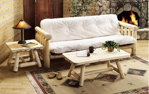 Rustic Natural Cedar Furniture 100048E Living Room Futon Frame (Mattress not ()