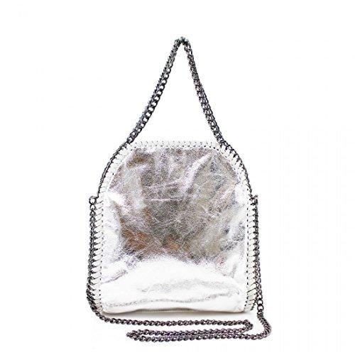 Chain New Stella Silver Design Tote Mini Detail Handbag Ladies Bag Shoulder Womens Work CqtP7gc7