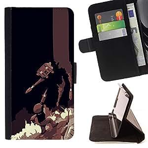 Momo Phone Case / Flip Funda de Cuero Case Cover - Batalla Juegos;;;;;;;; - Apple Iphone 5 / 5S