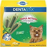 PEDIGREE DENTASTIX Toy/Small Dental Dog Treats Fresh, 12.7 oz. Pack (78 Treats)