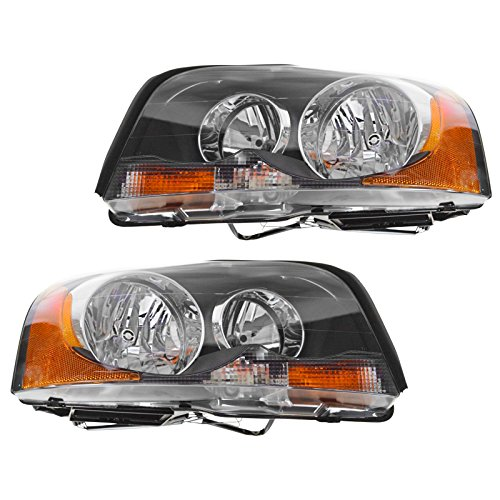 Halogen Headlights Headlamps Left & Right Pair Set of 2 for 03-13 Volvo XC90 ()