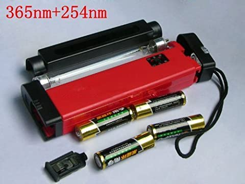 Portable 2 in 1 UV lamp Detect Fluorescent Minerals,Gem Testing,Watermarks,etc. by 5430net - Long Wave Uv Lamp