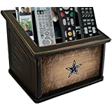 Fan Creations N0765-DAL Dallas Cowboys Woodgrain Media Organizer, One Size, Multicolored