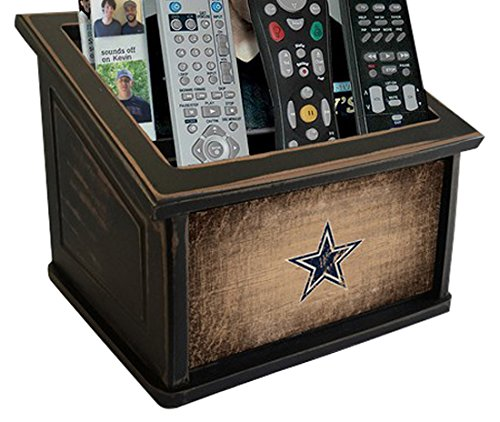 Fan Creations N0765-DAL Dallas Cowboys Woodgrain Media Organizer, One Size, Multicolored by Fan Creations