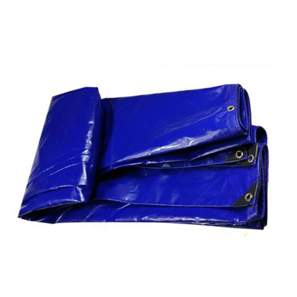 Dall Persenning Plane Wasserdicht Regenfest Multifunktion Poncho Sonnenschutz Camping 350 G/M² (Farbe : Blau, größe : 4  8m)