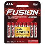 FUSION by Rayovac High-Performance AAA Alkaline Batteries, 8-count