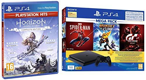 PS4 1TB Slim Bundled with Spider-Man, GTaSport, Ratchet & Clank And PSN 3Month&Horizon: Zero Dawn – Complete Edition…