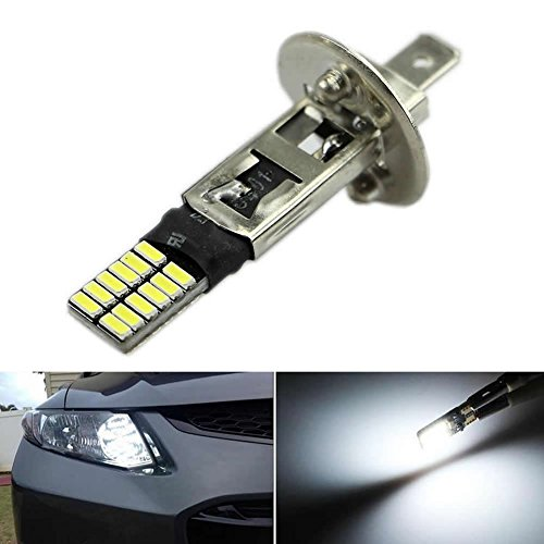Feamos White LED Replacement Bulbs 6500K H1 24-SMD HID Xenon for Fog Lights Driving DRL