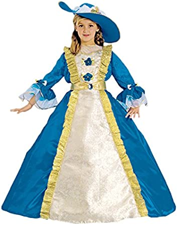 Dress Up America Bambine Blu Principessa Costume Outfit