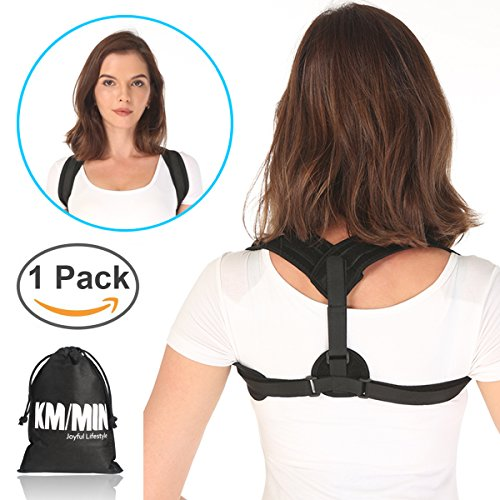 Posture Corrector, Kmmin Clavicle Support Brace Helpful for Upright Back Reduce Bad Posture Guidance to Proper Positon Away from Slouch with Adjustable Magic Velco for Women Men and Kids … by KMMIN