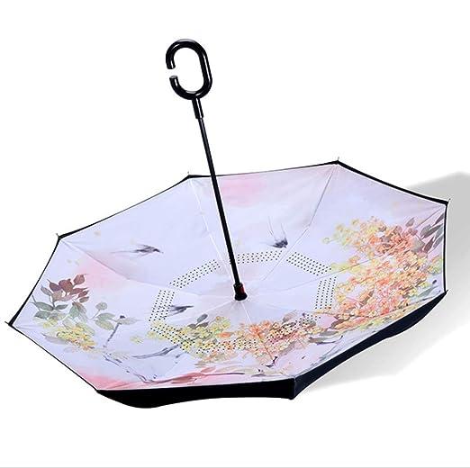 YJIU Paraguas Paraguas Especial Reverso de la Mano Libre del Tipo ...