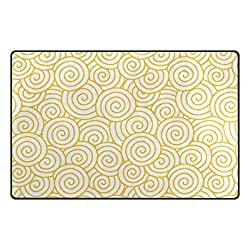 Doormat Front Door Mats Outdoor Inside Mats Personalized Welcome Mats with Cheung Cloud Shading for Chair Mat and Decorative Floor Mat for Office and Home (31 x 20 in & 60 x 39 in)