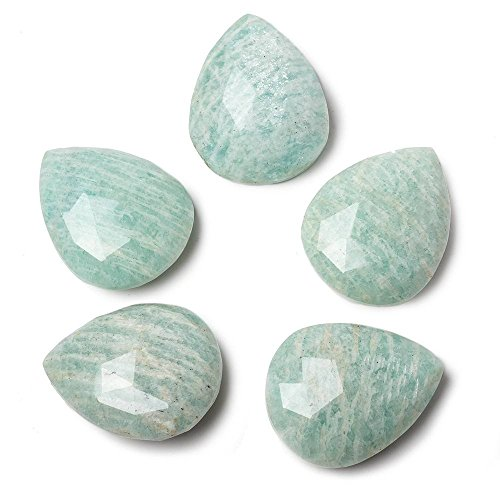 - 25x20mm Medium Amazonite Faceted Pear Focal Pendant Bead 1 piece