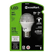 3 Way LED A19 10W 25/40/60W Equal 810 lumens 2700K 120V PLT ECS GP19 W27 60WE FR 120 3WAY DG