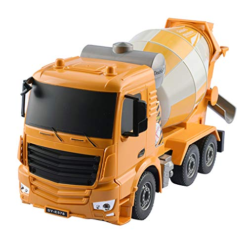 Flameer 1/26 Scale Remote Control Cement Mixer Construction Toy with 2.4Ghz Transmitter