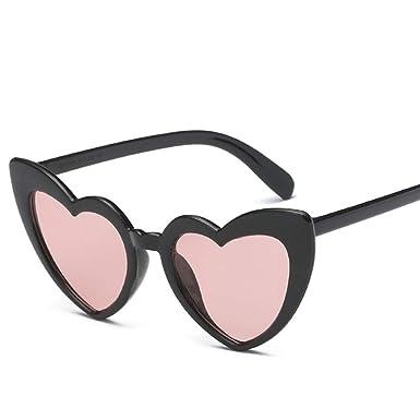ba63d72d01 Image Unavailable. Image not available for. Color  Heart Sunglasses Women  Brand Designer Cat Eye Sun Glasses Retro Love Heart Shaped Glasses Ladies  Shopping