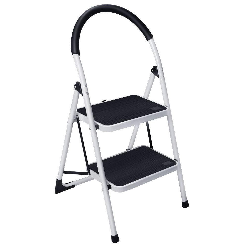 ML2.0-2WH Hasegawa Ladders  Lucano Step Ladder White Hasegawa Kogyo Co Ltd