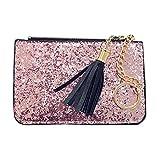 Sinwo Women Purse Zipper Zero Wallet Key Bags (Pink)