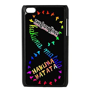 Jany store123 store Custom The lion king with Hakuna Matata black plastic Case for IPod Touch 4th cover