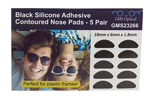 e285f4b7ef Gms Optical® 1.8mm Anti-Slip Adhesive Contoured Soft Silicone Eyeglass Nose  Pads with