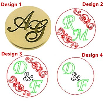 mdlg vintage custom made two letters personalized letter logo wedding invitation wax seal stamp rosewood handle