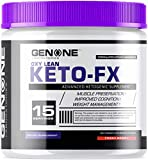 GenOne Nutrition- Oxy Lean Keto-FX- Ketosis, Ketones for Ketogenic Diet, Supports Energy Boosting, Endurance and Focus, Delicious Taste (15 Servings) (Fresh Berries)