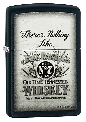 Review Zippo Jack Daniel's There's Nothing Like Pocket Lighter, black Matte