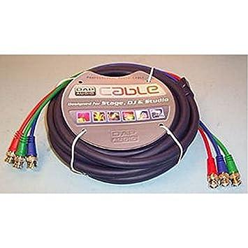¿RGB BNC Cable 6 m Tipo de conector BNC macho A, x 3 conector