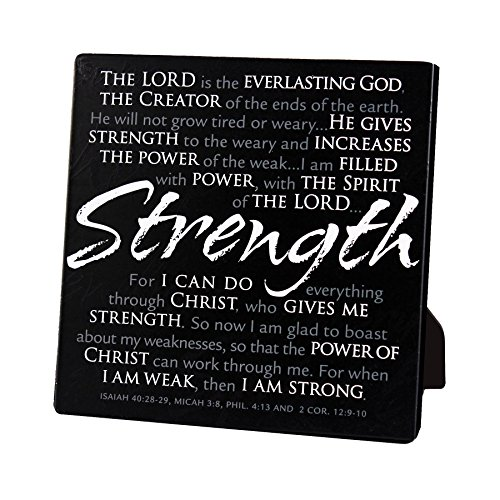 Lighthouse Christian Products Strength Plaque, 5 5/8 x 5 5/8