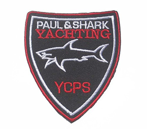 """paul & shark yachting sew iron on Patch Badge Embroidery 6.5 x 8 cm 2.5x3"""" PS-02"""