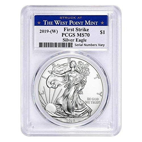 2018 $1 AMERICAN SILVER EAGLE PCGS FIRST STRIKE LABEL MS70