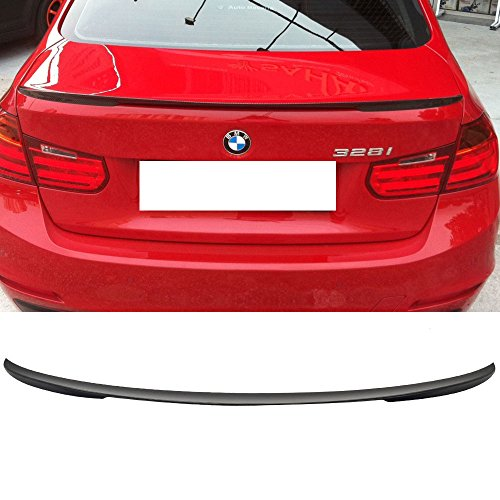 Trunk Spoiler Fits 2012-2018 BMW 3 Series | Performance Style Unpainted ABS Added On Lip Wing Bodykits by IKON MOTORSPORTS | 2012 2013 2014 2015 2016 2017