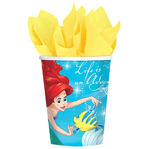 Ultimate Little Mermaid Party!!!Birthday Party Decoration Supplies Bundle Pack with 16lg&16sm Plates 16-9oz Cups, Matching Table Cover&Hanging Swirl Pack,50 Napkins(Bonus Matching Party Straw Pack) by Everyday Party Bundles (Image #3)