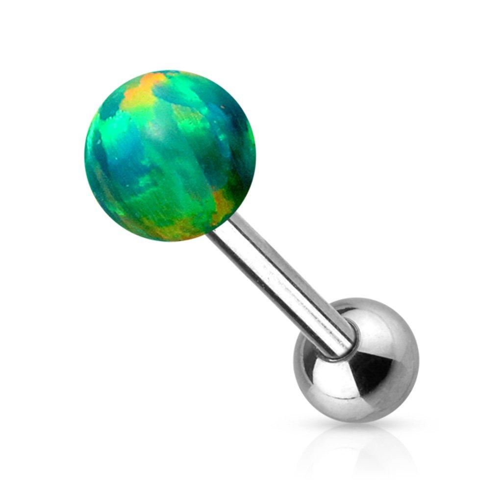 Opal Ball Internally Threaded Top 316L Surgical Steel WildKlass Barbell