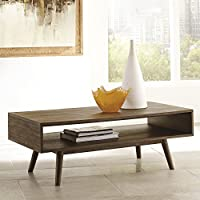 Kisper Dark Brown Color Rectangular Cocktail Table