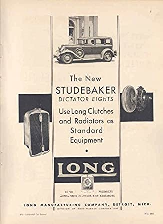 Amazon.com: 1931 Studebaker Dictator & Long Clutch Ad: Entertainment Collectibles