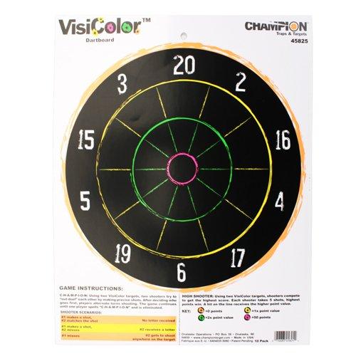 VisiColor High-Visibility Paper Targets, Dartboard - 10pk (Champion Dart compare prices)