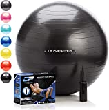 DYNAPRO Exercise Ball - 2,000 lbs Stability Ball - Professional Grade - Anti Burst Exercise Equipment for Home, Balance, Gym, Core Strength, Yoga, Fitness, Desk Chairs