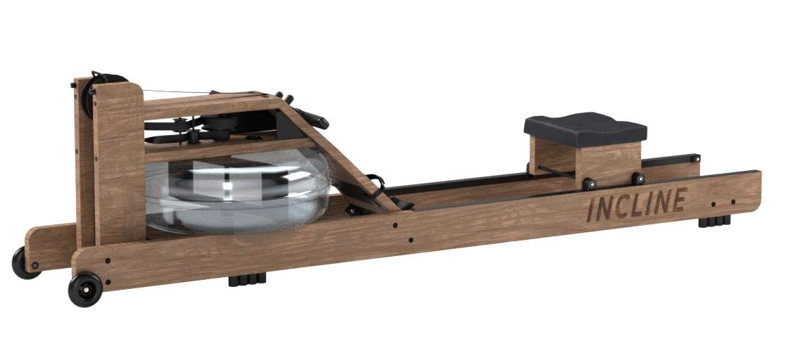 Incline Fit Wood Water Rowing Machine with Monitor, Walnut by Incline Fit (Image #8)